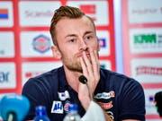 Emotionaler Abschied: Petter Northug erklärte an einer Pressekonferenz in Trondheim seinen Rücktritt vom Wettkampfsport (Bild: KEYSTONE/EPA NTB SCANPIX/OLE MARTIN WOLD)