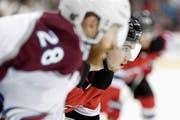 Nico Hischier bestreitet seine zweite Saison in der NHL. (Bild: Julio Cortez/AP (Newark, 18. Oktober 2018)