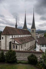 Die Hofkirche in Luzern. Bild: Nadia Schärli (12. September 2017))