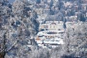 Blick auf die winterliche Lokremise: Das Foto auf dem Januar-Blatt des neusten Kalenders von Sandro Reichmuth. (Bild: PD/Sandro Reichmuth)