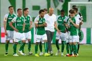Schweizer Klubfussballer haben – wie hier den FCSG gegen Sarpsborg – auf der europäischen Bühne zuletzt keine Stricke zerrissen und gingen meist als Verlierer vom Feld. (Bild: Keystone)
