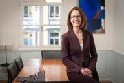 Susanne Vincenz-Stauffacher in einem Sitzungszimmer ihrer Kanzlei. (Bild: Ralph Ribi (St.Gallen, 18. Dezember 2018))