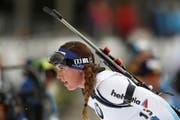 Die Obwaldnerin Lena Häcki. (Bild: KEYSTONE/AP/DARKO BANDIC)
