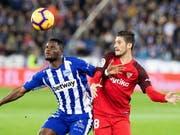 Der FC Sevilla kam auswärts gegen Alaves nur zu einem Remis und musste die Tabellenführung abgeben (Bild: KEYSTONE/EPA EFE/ADRIAN RUIZ DE HIERRO)