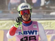Thomas Tumler freut sich nach seiner Top-Fahrt im zweiten Lauf (Bild: KEYSTONE/EPA/JOHN G. MABANGLO)