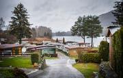 Auf dem Campingplatz Wagenhausen ist zu dieser Jahreszeit nicht viel los. Der Trend hin zu Winter-Camping ist im Thurgau noch nicht angekommen. (Bild: Andrea Stalder)