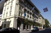 In diesem Gebäude an der Haldenstrasse in Luzern befindet sich das «Fitness National» – die Erweiterung ist hinter dem Nachbargebäude (rechts) geplant. (Archivbild: LZ)