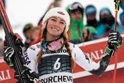 Feierte am Freitag beim Riesenslalom in Courchevel bereits ihren 49. Weltcupsieg: die erst 23-jährige Mikaela Shiffrin. (Bild: Giovanni Auletta/AP (Courchevel, 21. Dezember 2018))