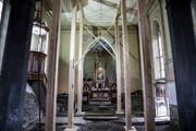 Im Kirchenschiff will Ursula Trucco eine frei schwebende Plattform installieren.