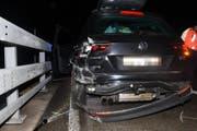 Ein Autofahrer verunfallte, weil er ausweichen musste. (Bild: Kapo)