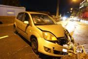 Das Unfallauto. (Bild: Zuger Strafverfolgungsbehörden (Walchwil, 22. Dezember 2018))