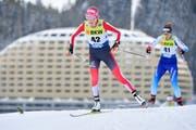 Teresa Stadlober wurde im Dezember in Davos Siebte.(Bild:KEYSTONE/Juergen Staiger)