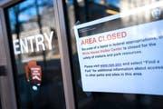 Das Besucherzentrum des Weissen Hauses ist wegen des Teil-«Shutdown» geschlossen. Bild: Jim Lo Scalzo/EPA (Washington, 22. Dezember 2018)