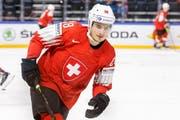 Timo Meier ist derzeit der treffsicherste Schweizer in der NHL.(Bild: KEYSTONE/Salvatore Di Nolfi)