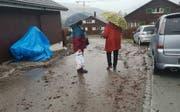 In Wattwil sind die Spuren der stürmischen Regennacht deutlich zu sehen. (Bild: BRK News)