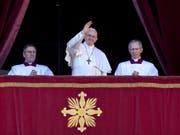 Papst Franziskus hat in seiner Weihnachtsbotschaft zu Frieden in Nahost und dem Jemen aufgerufen. (Bild: Keystone/EPA ANSA/ANGELO CARCONI)