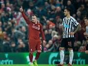 Xherdan Shaqiri traf beim 4:0 von Liverpool gegen Newcastle erneut (Bild: KEYSTONE/EPA/PETER POWELL)