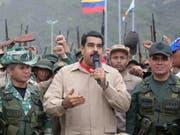 Militärs in Venezuela sollen 2014 einen Putsch gegen ihn geplant haben: Staatschef Nicolás Maduro. (Bild: KEYSTONE/EPA EFE/MIRAFLORES PRESS/MIRAFLORES PRESS / HANDOUT)