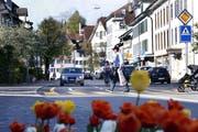 Auf der Grabenstrasse wurden Lärmmessungen gemacht. (Bild: Werner Schelbert (Zug, 19. April 2018))