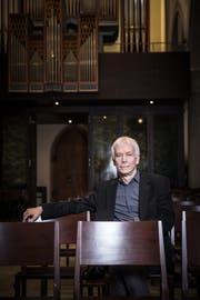 Einmal mehr ein kundiger und umsichtiger Leiter: Dirigent Stephen Smith. (Bild: Manuela Jans-Koch, 27. Oktober 2017).