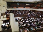 Die Knesset hat sich am Mittwoch aufgelöst. (Bild: Keystone/EPA/ABIR SULTAN)