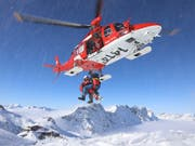 In mehr als der Hälfte der Fälle waren die Rega-Crews für verunfallte Wintersportler im Einsatz. (Bild: Bildquelle: Rega)