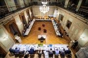 An der kürzlichen Budgetsitzung des Gemeinderats im Grossen Bürgersaal im Rathaus. (Bild: Reto Martin)