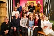 Die Darsteller der Theatergruppe Wängi freuen sich auf die bevorstehenden Aufführungen. (Bild: Maya Heizmann)