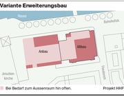 Das Projekt der HHF Architekten. (Grafik oben: Lea Siegwart, Grafik unten: zvg)