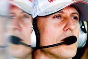 Michael Schumacher 2012 in Melbourne. (Bild: EPA/ Diego Azubel, 16. März 2012)