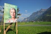 Solche Plakatierungen (hier im Wahlkampf 2015) wird ab nächster Woche zentral beim Kanton bewilligt. (Bild: Archiv UZ)