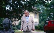 Bruno Stefanini 1991 im Park vom Schloss Luxburg. (Archivbild: Urs Oskar Keller)