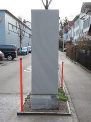 Der «Stein des Anstosses» in der Bachstrasse. (Bild: PD)