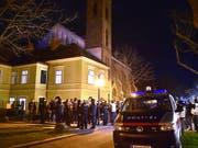 Tatort katholische Kirche Maria Immacolata in Wien-Floridsdorf. (Bild: KEYSTONE/APA/APA/HANS PUNZ)