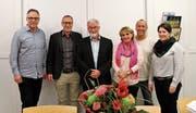 Der Stiftungsrat: Jürg Mörtlseder, Bruno Räbsamen, Hanspeter Heer, Béatrice Lanz, Yvo Ledergerber und Mirjam Schönenberger (von links; es fehlen Dr. Jean Luc Meyer und Claudia R. Mattle). (Bild: PD)