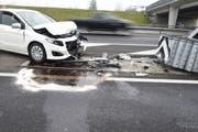 Das Unfallauto. (Bild: Luzerner Polizei, 27. Dezember 2018)