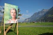 Temporäre Plakatierungen, wie hier im Wahlkampf 2015, werden ab 2019 zentral von der Baudirektion Uri bewilligt. (Bild: Archiv Urner Zeitung)