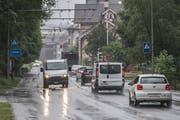 Die Obernaustrasse in Kriens (Bild: Pius Amrein (13. Juni 2018))