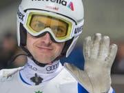 Simon Ammann ist an der Vierschanzentournee dabei (Bild: KEYSTONE/URS FLUEELER)