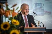 Bundesrat Johann Schneider-Ammann setzt sich für die Forschungszusammenarbeit zwischen der Schweiz und der EU ein. (Bild: Andrea Stalder)