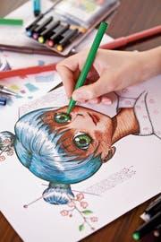 Am liebsten zeichnet die 16-Jährige Mangas – ein Comicstil, der aus Japan stammt. (Bild: Getty)