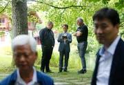 Cryptovalley Zug: Eine Delegation aus Südkorea besucht den Kanton Zug. Im Hammergut in Cham finden verschiedene Workshops statt. Das fand auch in der südkoreanischen Presse Beachtung. (Bild: Stefan Kaiser (Zug, 14 August 2018))