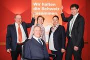 Paul Rutishauser, Christian Lohr, Brigitte Häberli, Carmen Haag und Gallus Müller. (Bild: Kurt Peter)