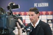 Der FCL stellte im Januar seinen neuen Cheftrainer Gerardo Seoane vor. Im Juni wechselte Seoane bereits zu YB. (Bild: Pius Amrein/LZ (Luzern, 9. Januar 2018)