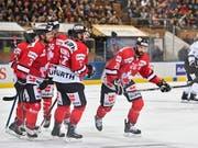 Das Team Canada wurde zum Abschluss der Vorrunde am Spengler Cup von den Nürnberg Ice Tigers nicht gefordert (Bild: KEYSTONE/EPA KEYSTONE/GIAN EHRENZELLER)