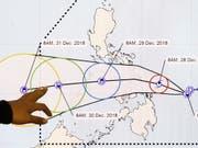 Nach einem starken Erdbeben in der Region der Philippinen hatten Experten am Samstagmorgen vor Tsunami-Wellen gewarnt. (Bild: KEYSTONE/EPA/ROLEX DELA PENA)