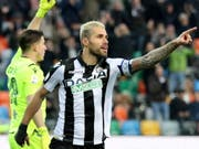 Valon Behrami schoss gegen Cagliari sein erstes Saisontor (Bild: KEYSTONE/EPA ANSA/LANCIA)