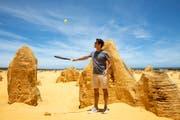 Roger Federer posiert für ein Foto in Australien. (Bild. Richard Wainwright/EPA (27. Dezember 2018))