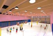Die Visualisierung zeigt die Dimensionen der drei Indoor-Felder.