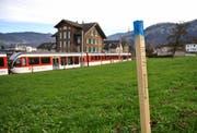 Bahnstrecke in Hergiswil beim Bahnhof Matt wird zweispurig. (Bild: Corinne Glanzmann, Hergiswil)